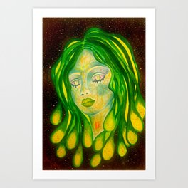 Goddess of The Galactic Waters  Art Print