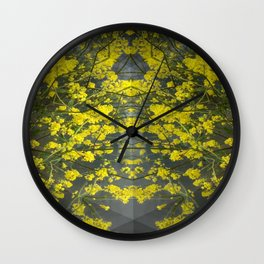 Mustard Rising Wall Clock