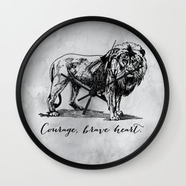 Courage, brave heart - Aslan - Chronicles of Narnia Wall Clock