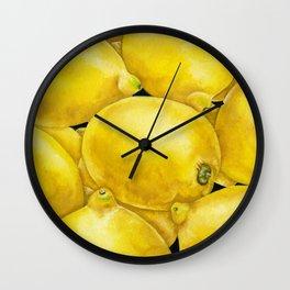 Fresh Lemons Wall Clock