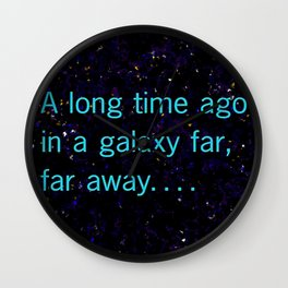 A long time ago SW Quote Wall Clock