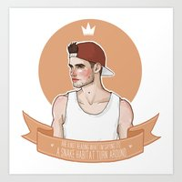 liam payne Art Prints featuring Liam Payne by vulcains