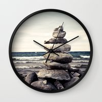 magic the gathering Wall Clocks featuring Gathering by Olivia Joy StClaire