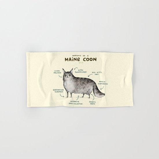 Anatomy of a Maine Coon Hand & Bath Towel