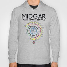 Final Fantasy VII - Midgar Mass Transit System Map Hoody