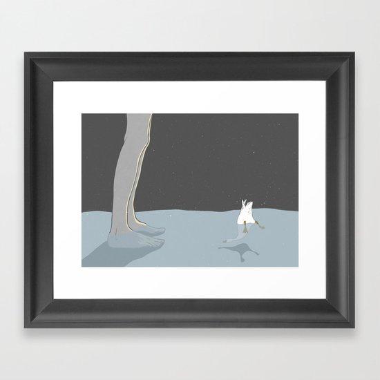 Small swan Framed Art Print
