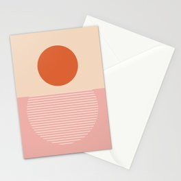 Abstraction_SUNSET_REFLECTION_POP_ART_Minimalism_002A Stationery Cards