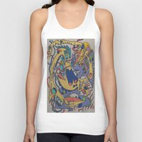 bookworm Tank Tops featuring Bookworm by Gregree