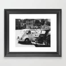 fiat 500 cars - mr & mrs Framed Art Print