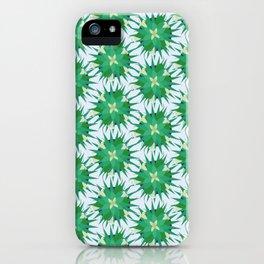 Salvia hispanica, green pattern iPhone Case
