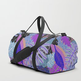 Ultraviolet Faded Nature Leaves Duffle Bag