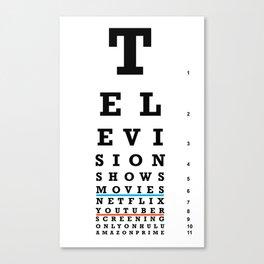 Television Vision Chart Canvas Print