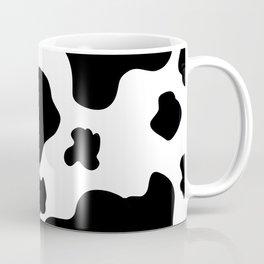 Cow Print Pattern / White / Black Coffee Mug