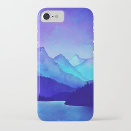 Cerulean Blue Mountains iPhone Case