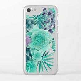 Succulent Love I Clear iPhone Case