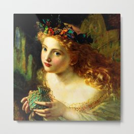 """Sophie Gengembre Anderson """"Take the Fair Face of Woman"""" Metal Print"""