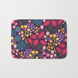 Spring blooms - dusk Bath Mat