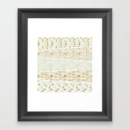 Mint & Gold - yeoseot Framed Art Print