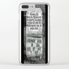 Scripture Pictures 12 Clear iPhone Case