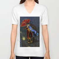zuko V-neck T-shirts featuring Fearless by NiiArt