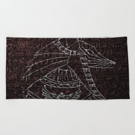 Anubis Egyptian God Beach Towel