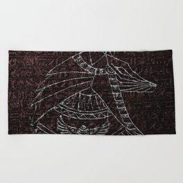 Anubis Egyptian God Beach Towel
