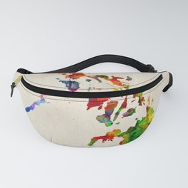 Philippines Map in Watercolor Fanny Pack
