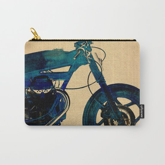 Metalic Blue Carry-All Pouch