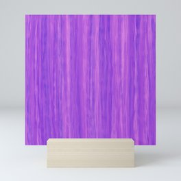 Grape Colored Purple Vertical Stripes Mini Art Print