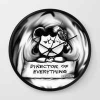 psych Wall Clocks featuring Director and psych redirector of everything. Ms. Lucy by Kristy Patterson Design