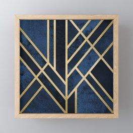 Art Deco Midnight Framed Mini Art Print