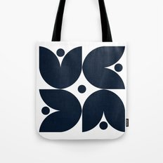 the tulips -navy Tote Bag