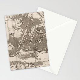 Vintage Map of Nantes France (1764) Stationery Cards