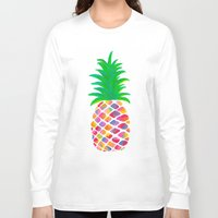 pineapple Long Sleeve T-shirts featuring Pineapple by Lindsay Milgrim