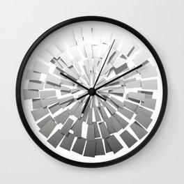 Grey Sunburst 2 Wall Clock