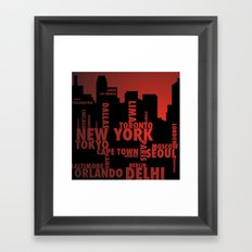 Cities Framed Art Print