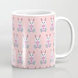 Easter bunny with pink egg Coffee Mug
