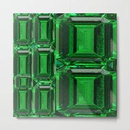 SPRING GREEN EMERALDS ART DECORATIVE  DESIGN Metal Print