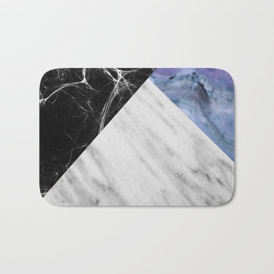 Marble Collage with Blue Bath Mat