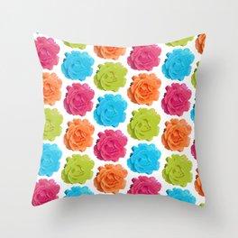 Mod Roses Throw Pillow
