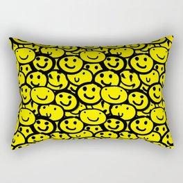 Smiley Face Yellow Rectangular Pillow