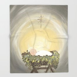 Away in a Manger Throw Blanket