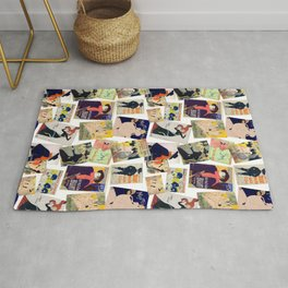 Toulouse Lautrec Posters Pattern Rug