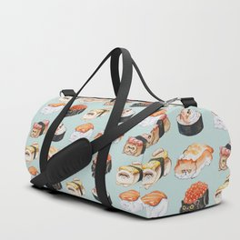 Sushi Persian Cat Watercolor Duffle Bag