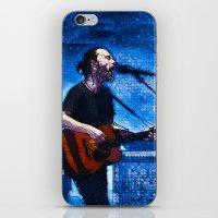 radiohead iPhone & iPod Skins featuring Radiohead / Thom Yorke by JR van Kampen
