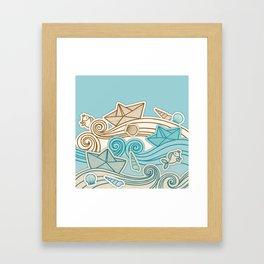 Beach fish sea Framed Art Print