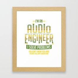 Audio Engineer Gift Sound Engineer Shirt Framed Art Print