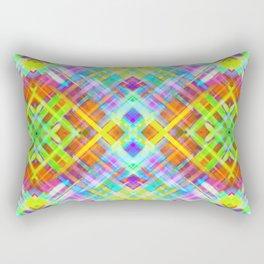 Colorful digital art splashing G71 Rectangular Pillow