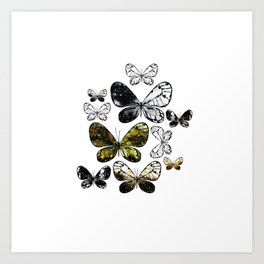 Metallic Moth Art Print