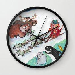 Alaska Cats Wall Clock